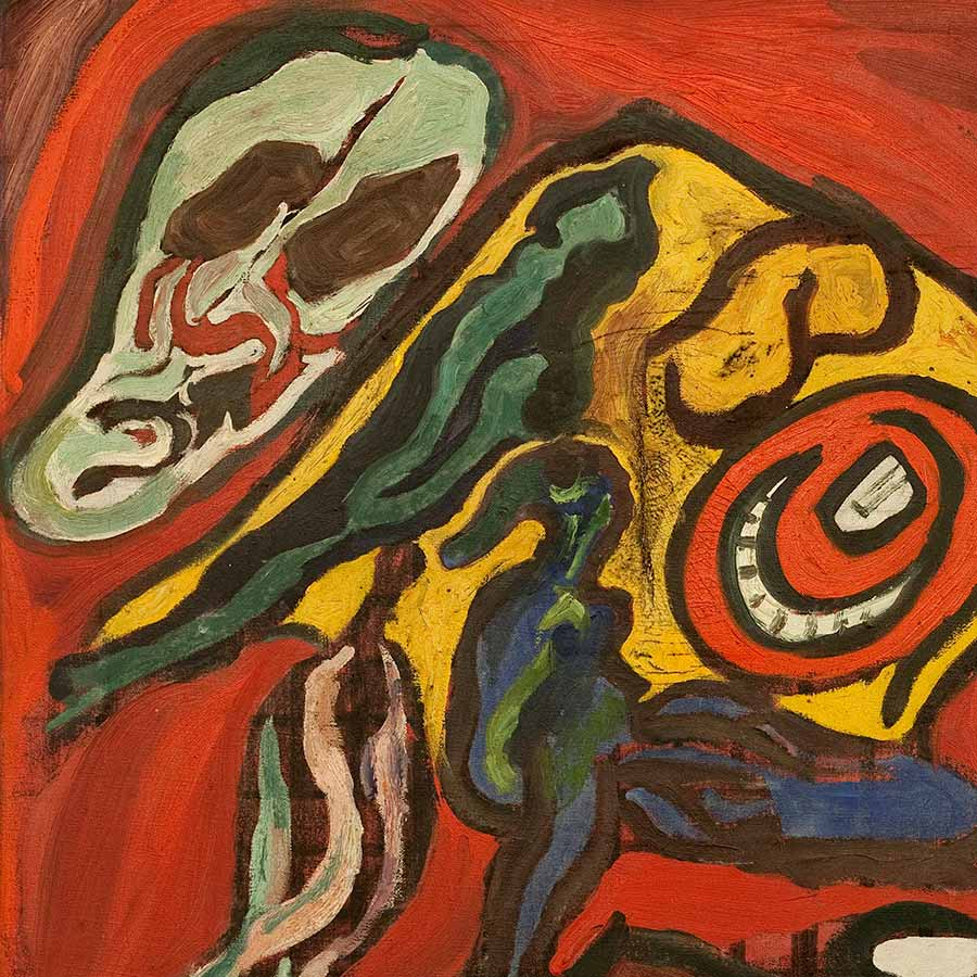 <strong>Gerald Wilde</strong>, <em>The Shriek</em> (detail), 1949. Oil on canvas, 61 x 50 cm.