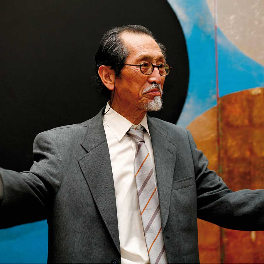 Kenji Yoshida at October Gallery, 2007.<br>Photo: Jonathan Greet